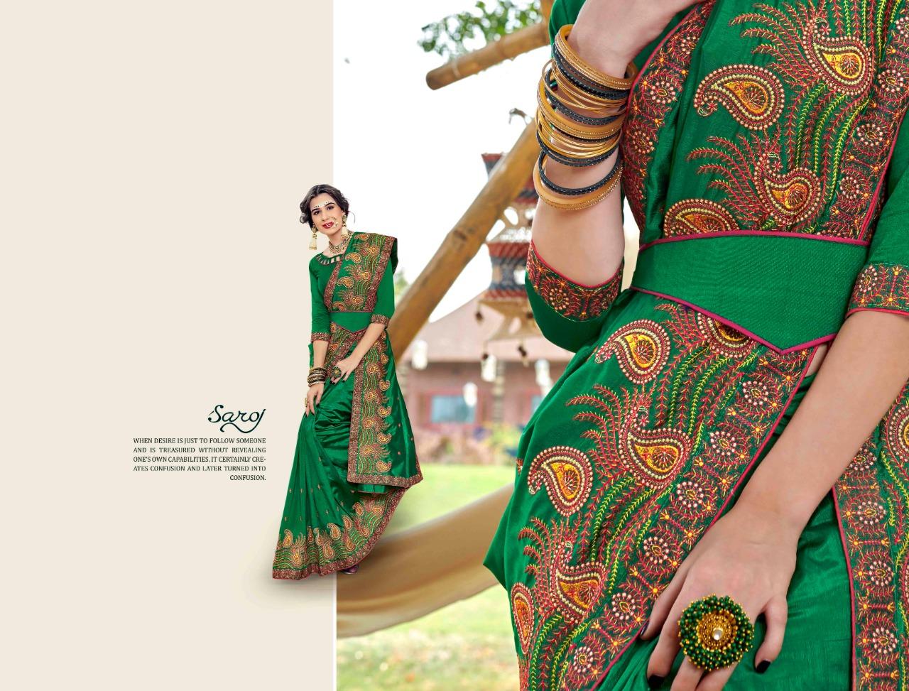 Saroj Zoya Vol 4 Designer Banglori Silk Saree Wholesale