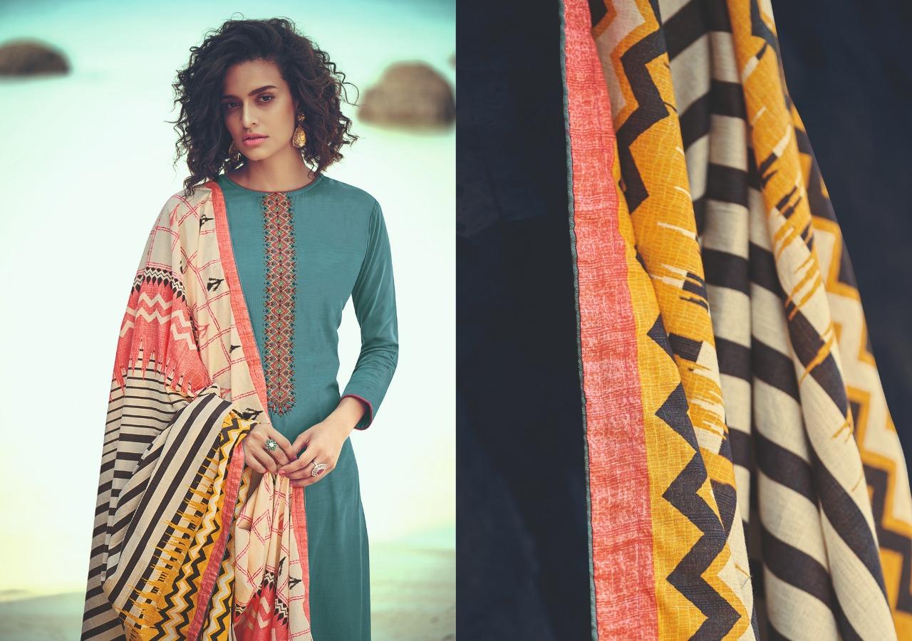 Varsha Fashion Pochampally Designer Mulberry Suit Wholesale.