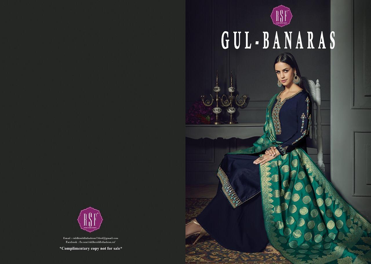 Rsf Fashion Gulbanaras Designer Banarsi Suits Wholesale
