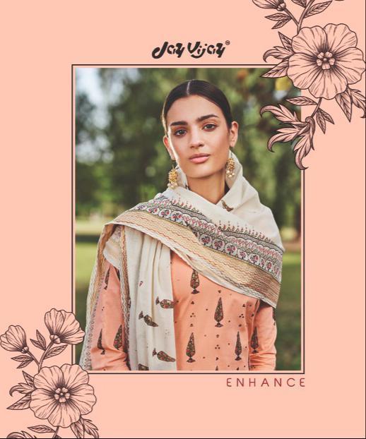 Jay Vijay Enhance Designer Cotton Block Print Suit Wholesale
