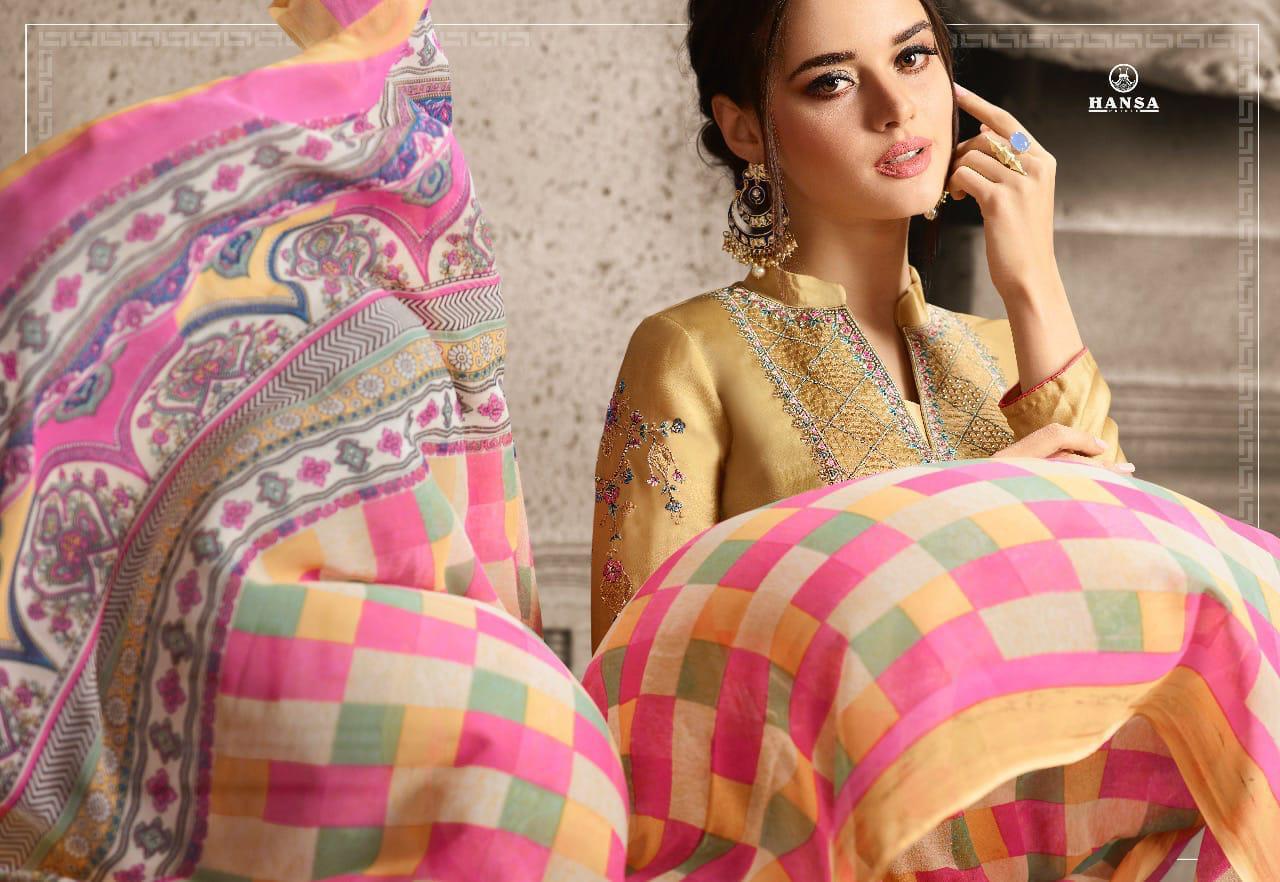 Hansa Husna Ara Vol 19 Designer Embroidery Suits Wholesale.