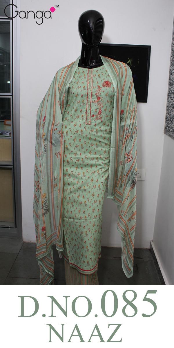 Ganga Naaz 0085 Designer Cotton Suits Best Wholesale Rate.