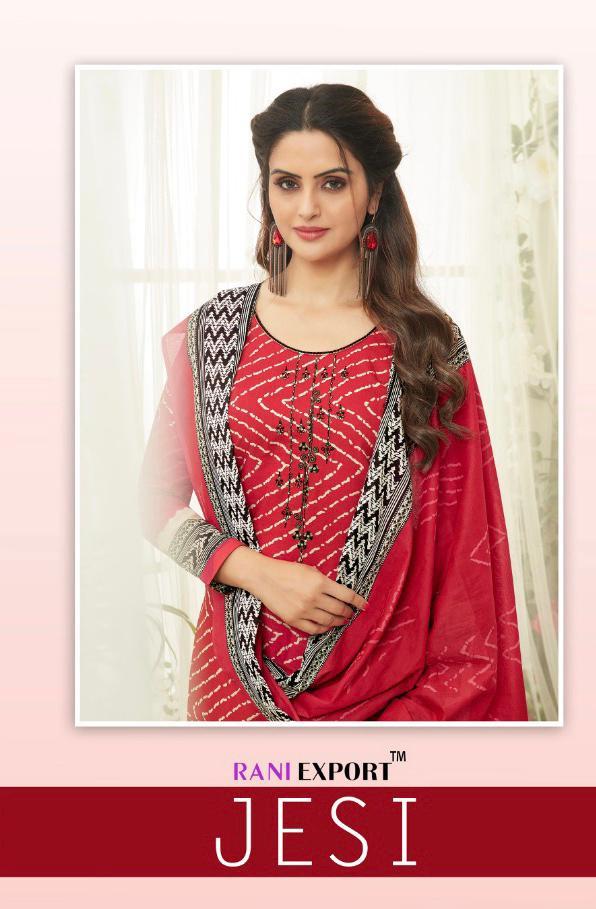 Rani Export Jessi Pure Cotton Bandhni Suits Wholesale.