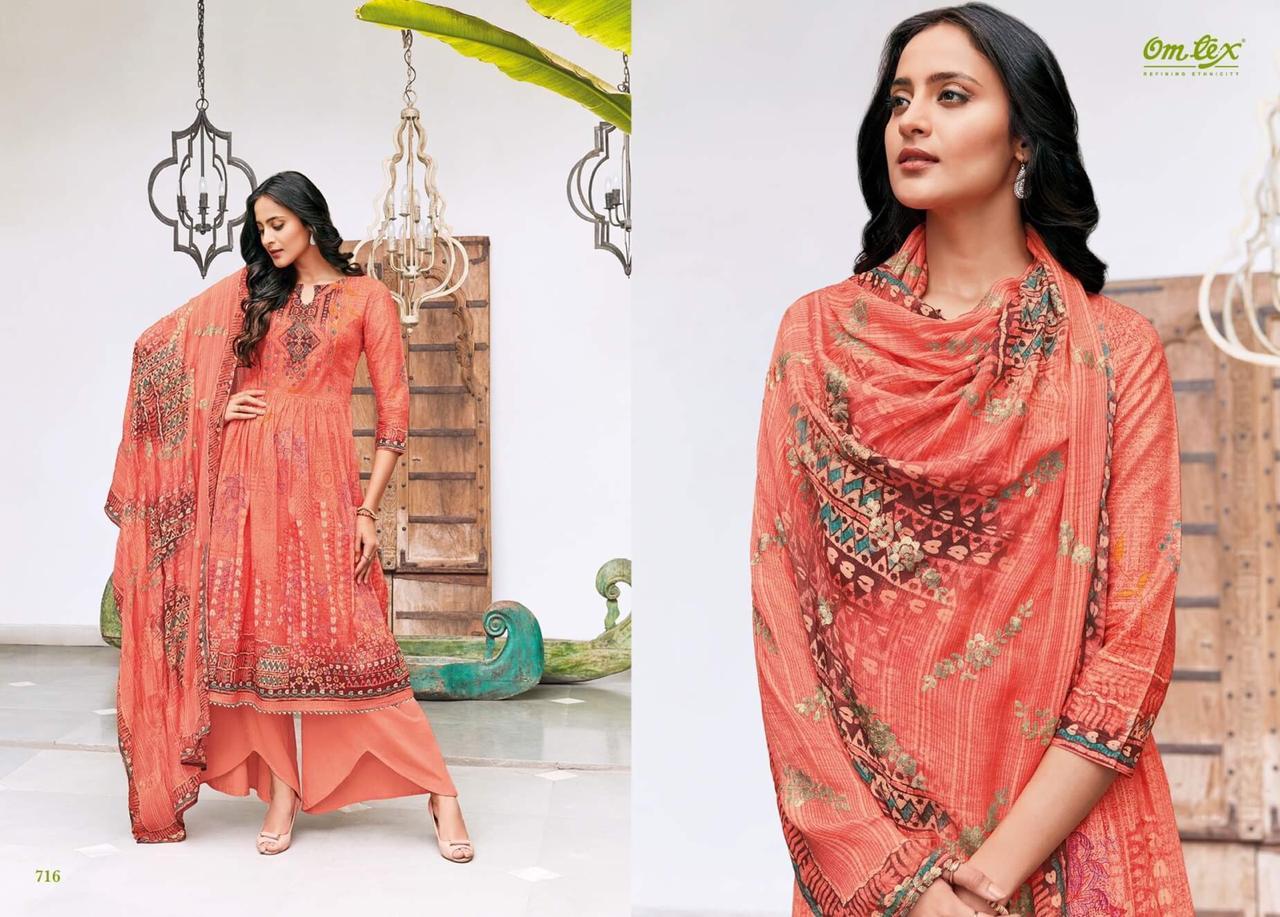 Omtex Elsa Lawn Cotton Designer Suits Best Wholesale