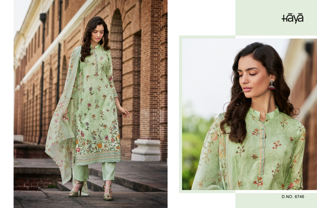 Haya Evana Pure Silk Cotton Digital Print Suits Wholesale