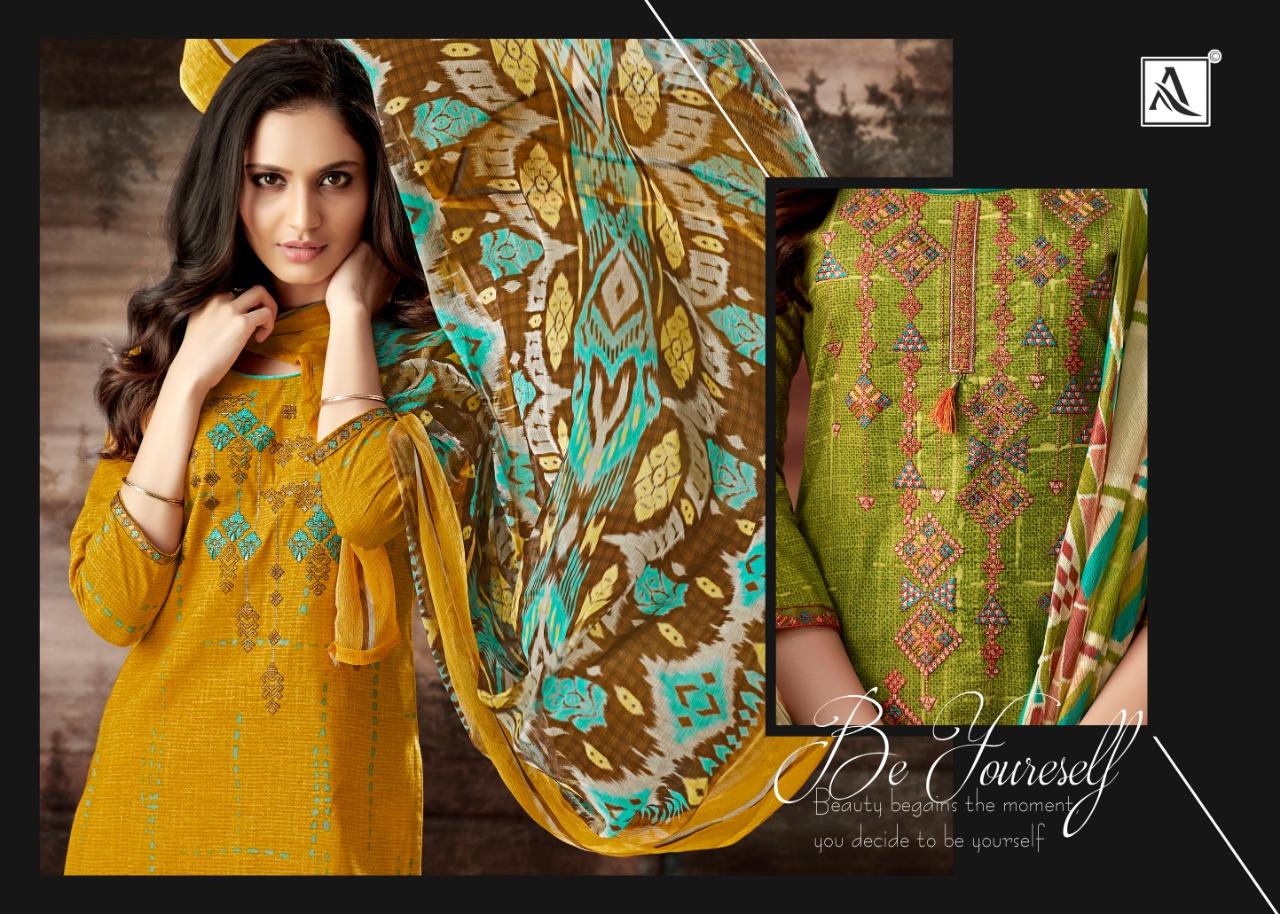 Alok Suit Evershine Designer Cambric Cotton Suits Wholesale.