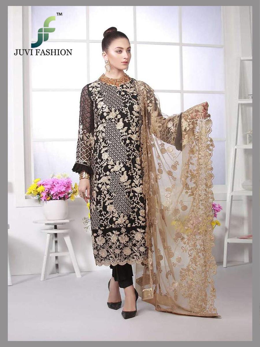 Juvi Fashion Azure Luxe Pakistani Replica Embroidered Wholes