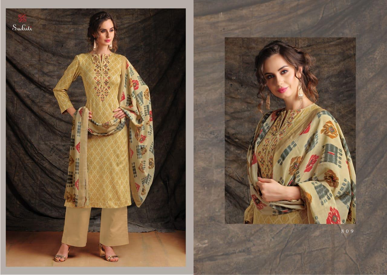 Sahiba Sudriti Kora Designer Cotton Embroidar Suit Wholesale