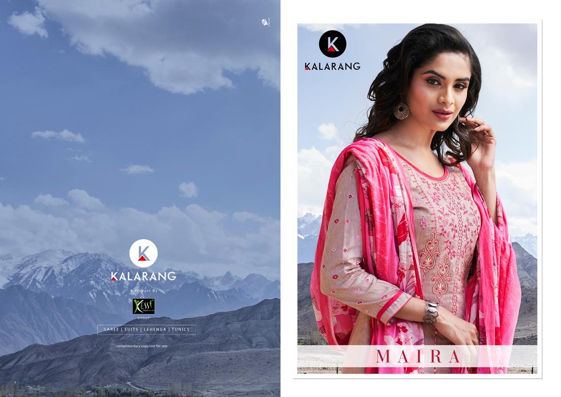 Kalarang Maira Satin Printed Emb Suits Wholesale