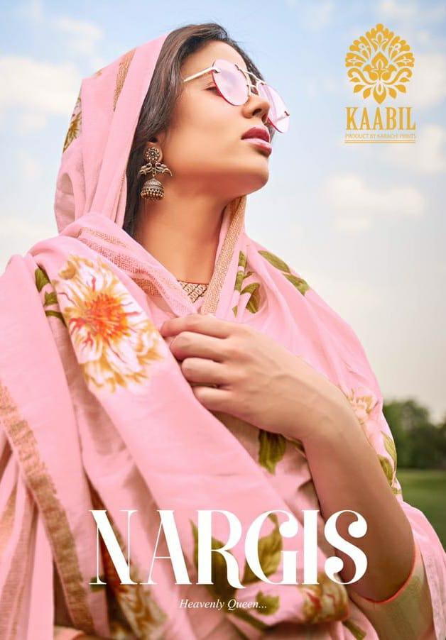 Karachi Prints Nargis Kabil Lawn Cotton Suits Wholesale