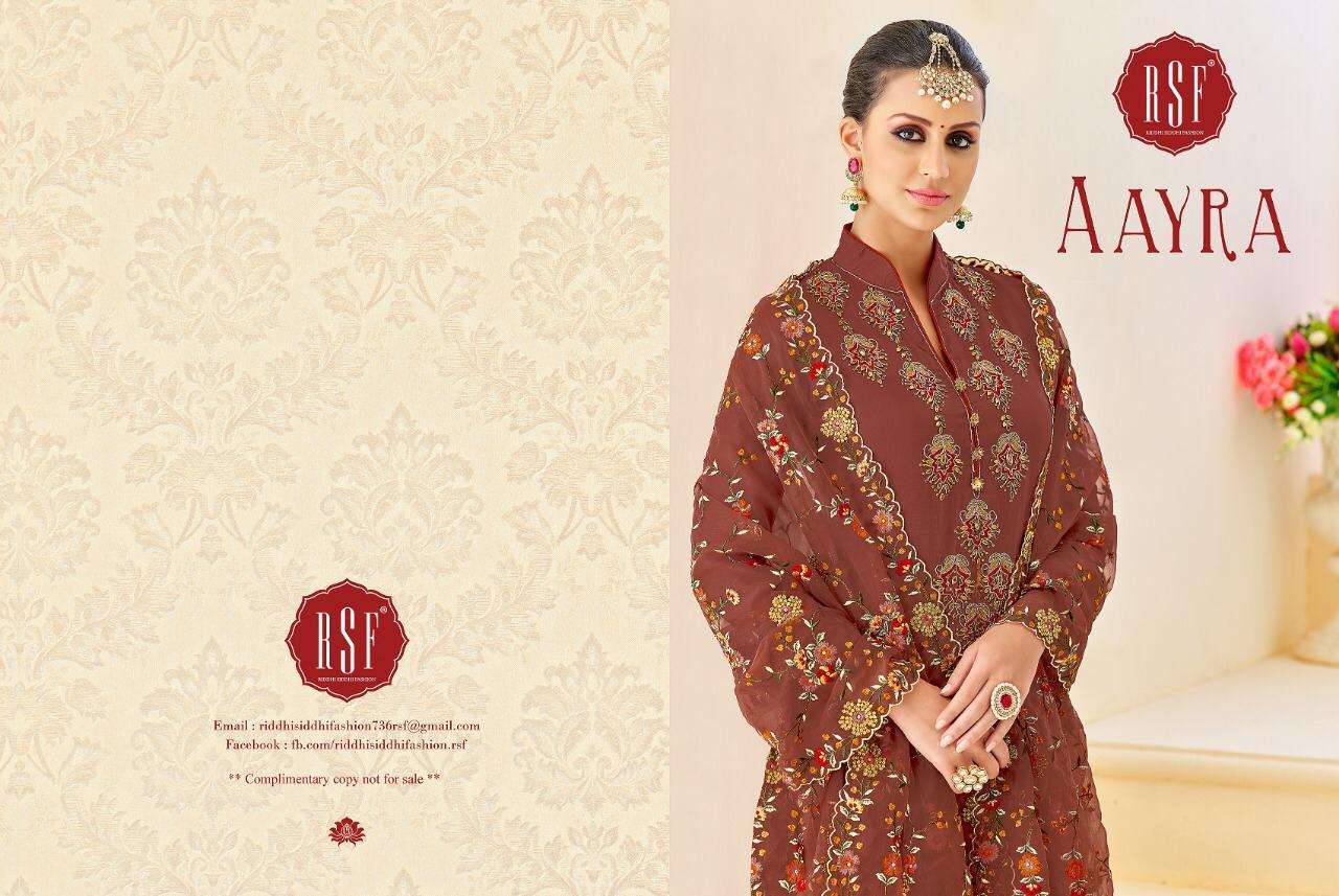 Rsf Aayra Upada Silk Designer Heavy Dupatta Suits Wholesale