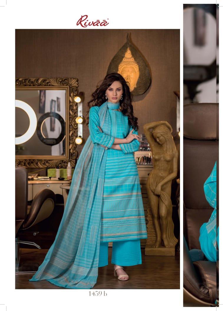 Rivaa Hasleen 2 Designer Cotton Suits Best Wholesale Rate