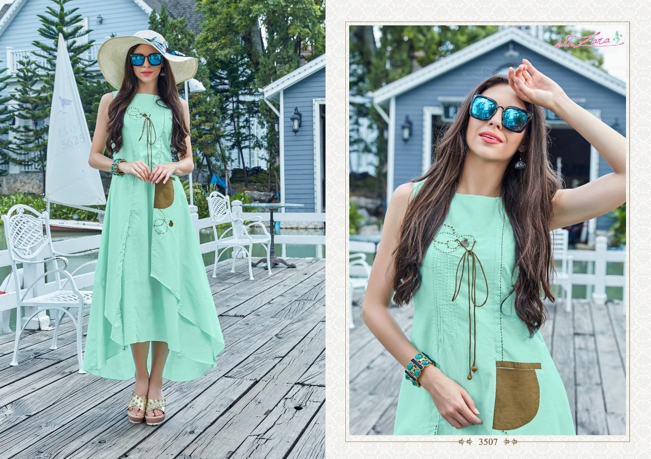 Sinzara Gulnaaz Designer Pure Cotton Kurtis Wholesale