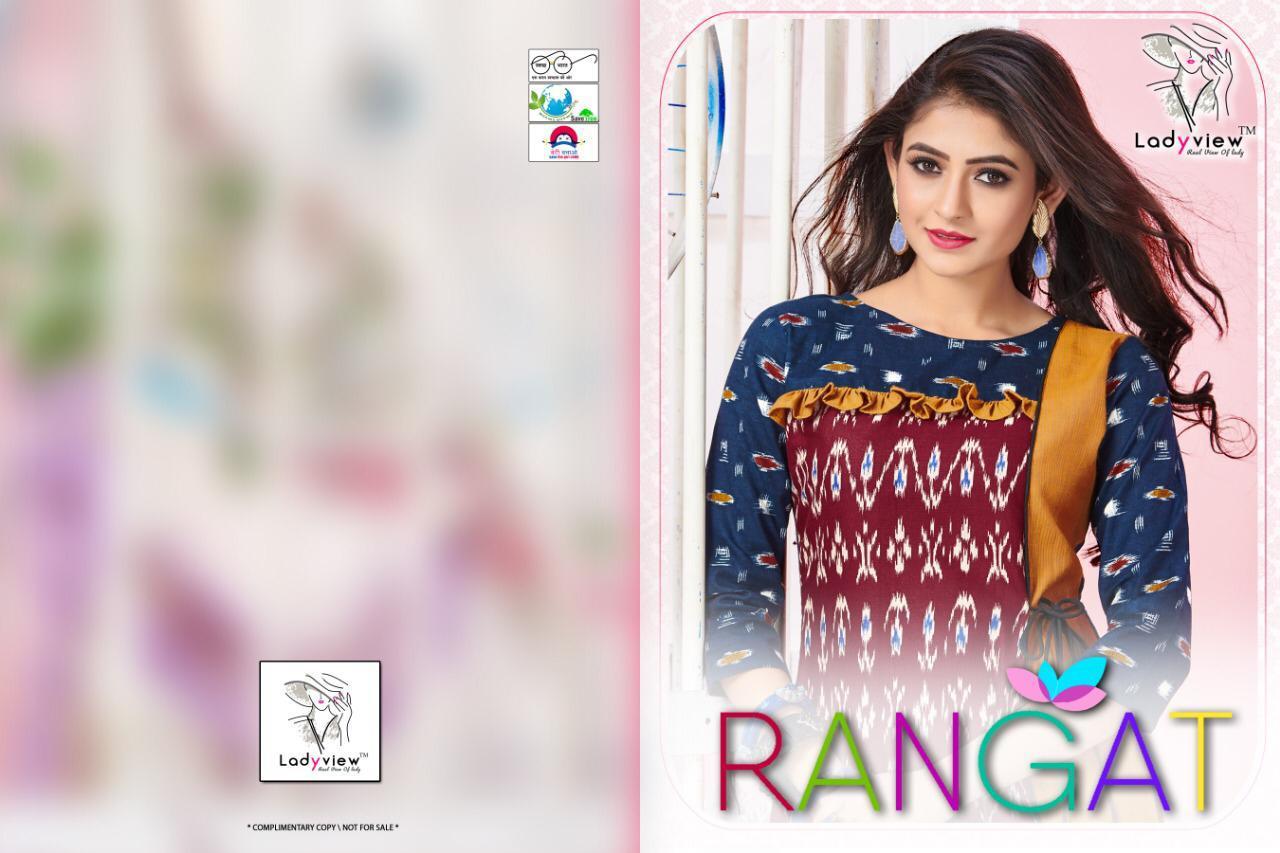Ladyview Rangat Ekkat Print Designer Kurti Wholesale