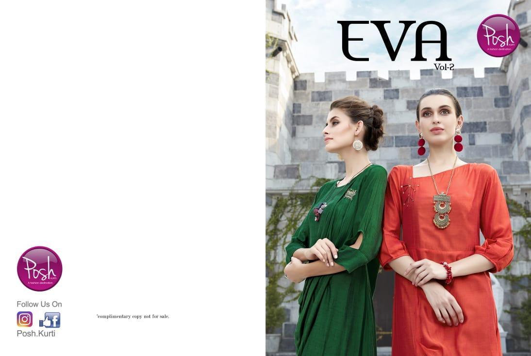 Posh Kurti Eva Vol 2 Designer Long Partywear Gowns Wholesale