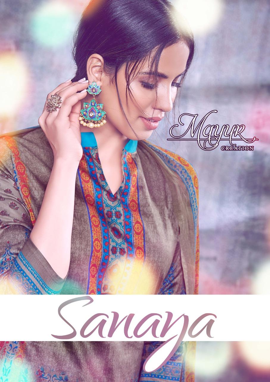 Mayur Creation Sanaya Designer Glaze Cotton Suits Wholesale