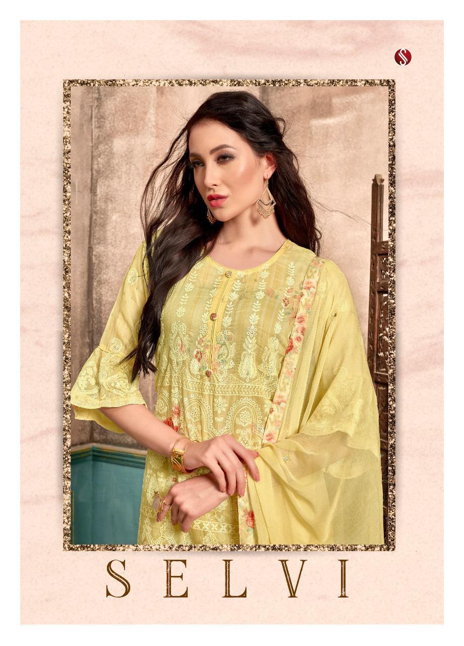 Sri Selvi Designer Cotton Embrodery Suits Wholesale