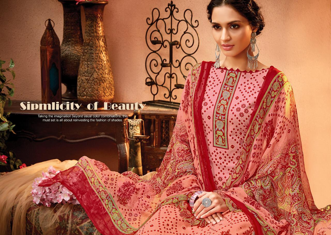 Meenaz Satrangi Bandhej Designer Cotton Suits Wholesale