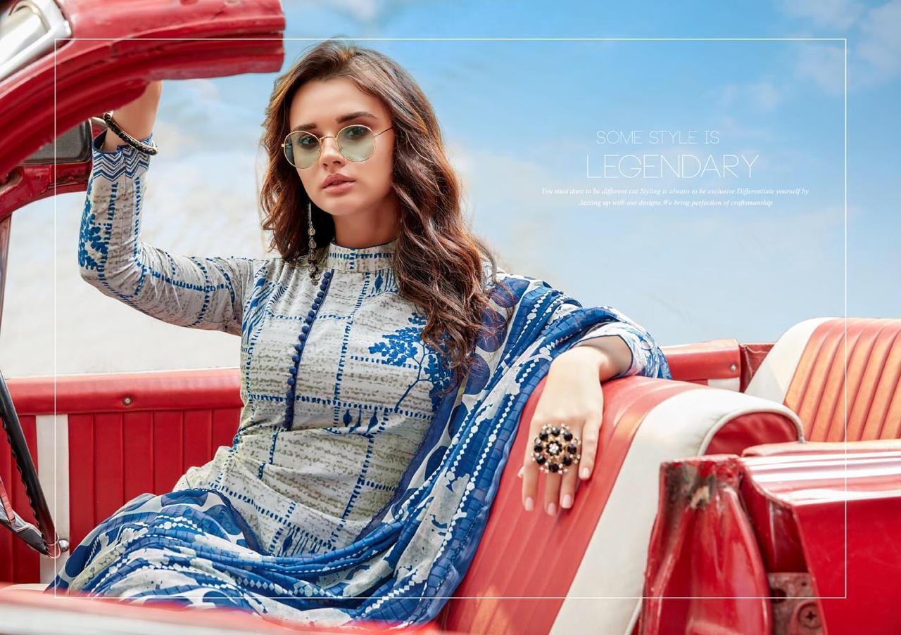 Kesar Karachi Majestic Summer Designer Lawn Suit Wholesale