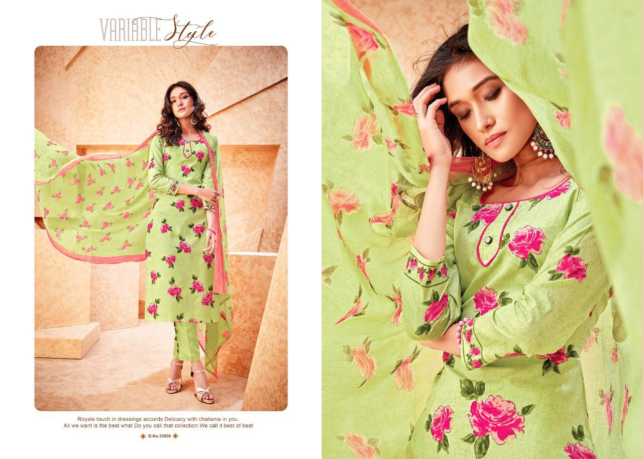 Radhika Azara Vol 33 Designer Cambric Cotton Suits Wholesale