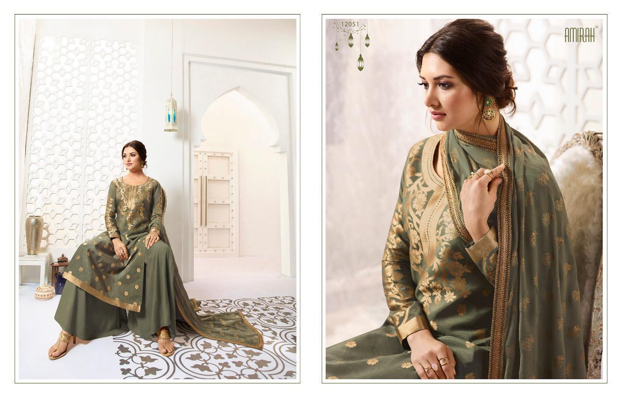 Amirah Banaras 4 Designer Pure Banarasi Silk Suit Wholesale