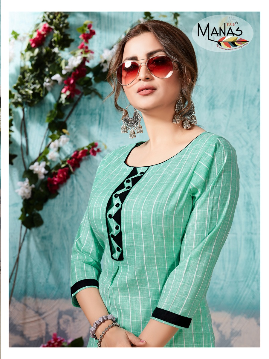 Manas Lavli Designer Cotton Kurtis Best Wholesale Rate