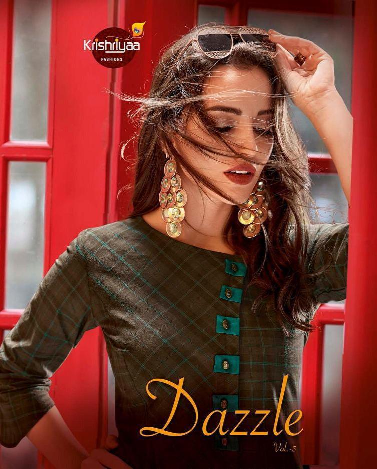 Krishiya  Dazzle Vol 5 Designer Kurti Plazzo Set Wholesale
