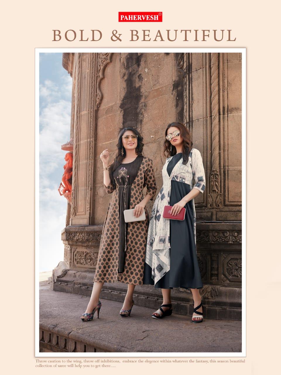 Pahervesh Neerja Designer Cotton Flex Kurtis Wholesale
