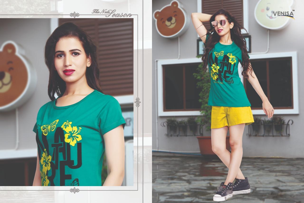 Venisa Alane Designer Half Sleeves Girls T Shirt Wholesale