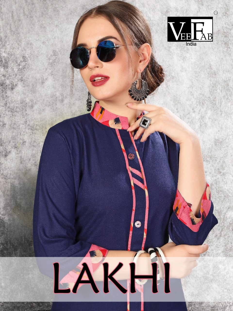 Vf India Lakhi Designer Rayon Kurti With Rayon Plazzo Best Wholesale Rate