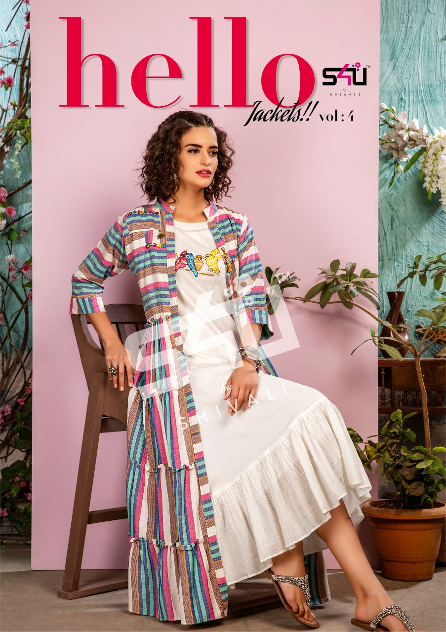 S4u By Shivali Hello Jackets Vol 4 Designer Ankle Langth Gown Best Wholesale Rate