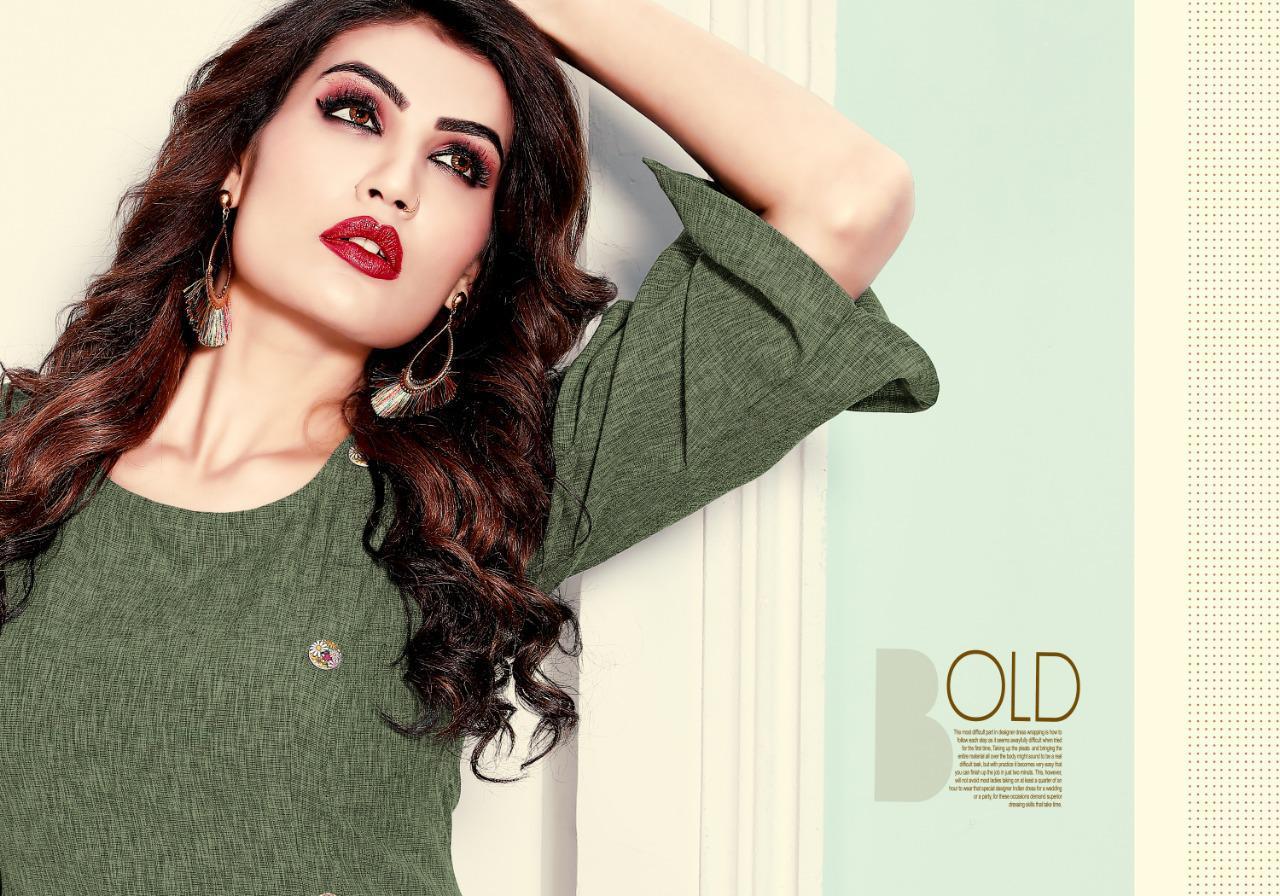 Rani Trendz Top Model 5 Designer Cotton Slub Kurti Best Wholesale Rate