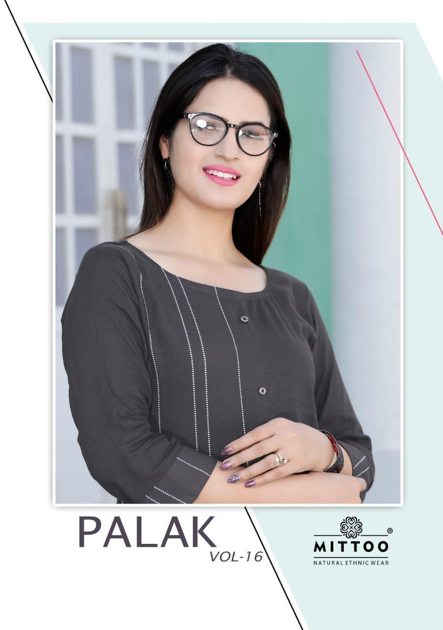Mittoo Palak Vol 16 Designer Heavy Rayon Kurtis Wholesale