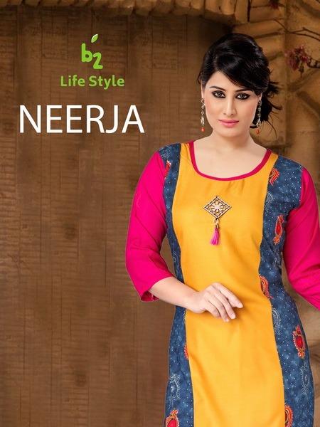 B2 Lifestyle Neerja Designer Low Range Kurtis In Best Wholesale Rate
