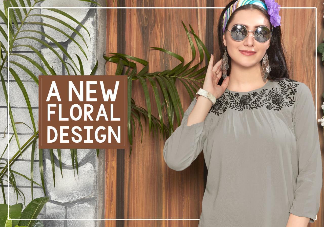 Riya Designer Compass Vol 4 Designer Rayon Tops In Best Wholesale Rate