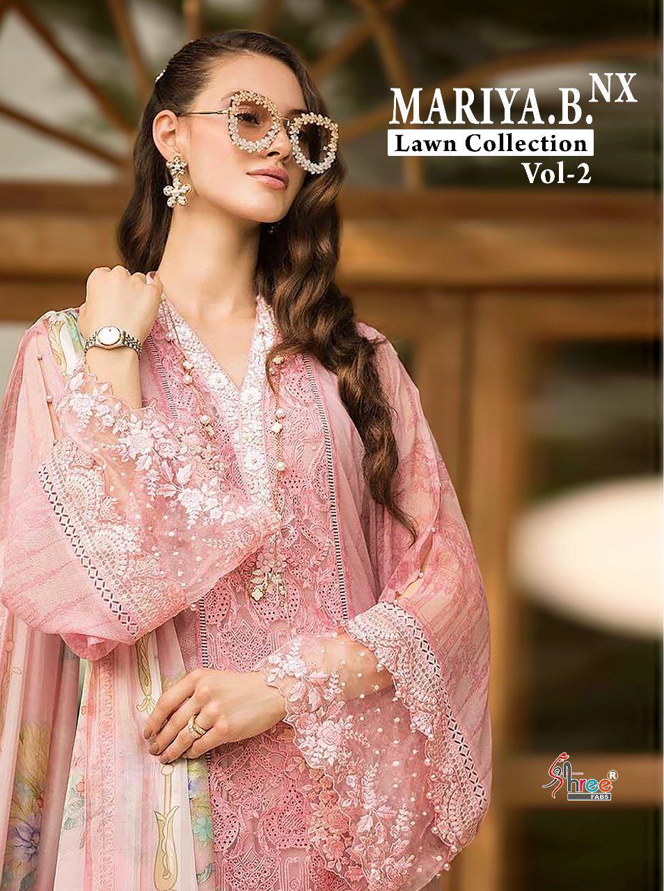 Shree Fab Mariya B Lawn 2 Nx Designer Pakistani Replica Suits Wholesale