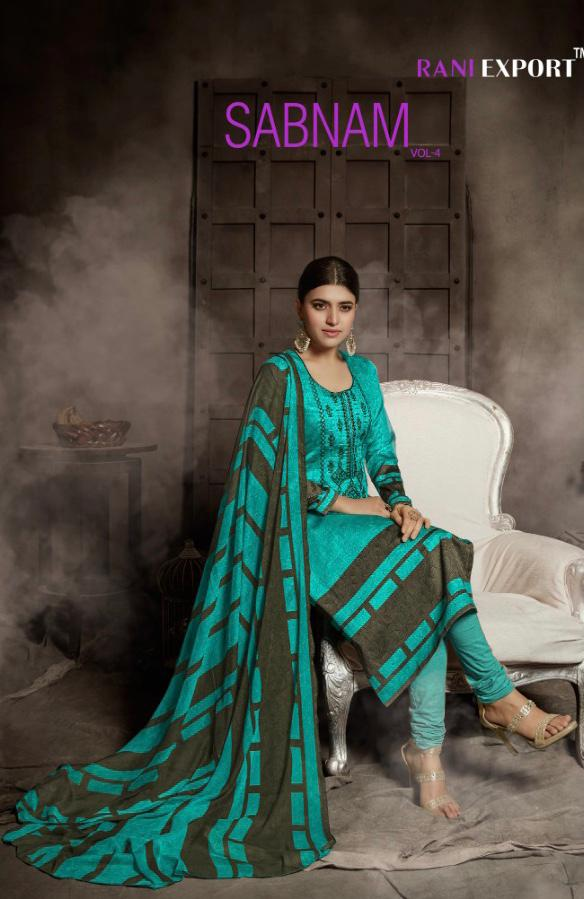 Rani Export Sabnam 4 Designer Print With Embroidery Work Suits Wholesale
