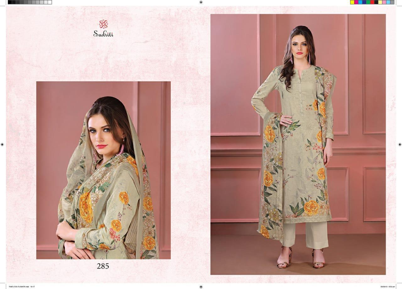 Sahiba Sudriti Timeless Flower Digital Print With Embroidery Or Handwork Suits Wholesale