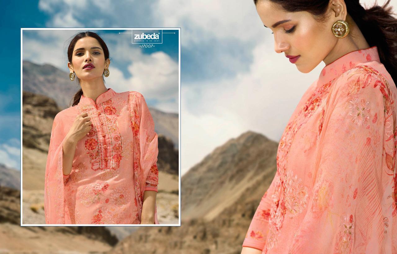 Zubeda Vreeti Designer Digital Print With Embroidery And Zari Work Suits Wholesale