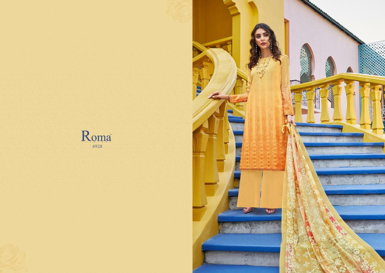 Jinaam Dress Roma Yumna Designer Poly Muslin Top Embroidery Work Suits Wholesale
