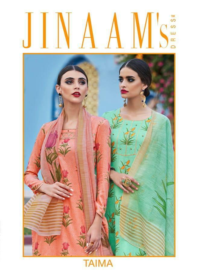Jinaam Dress Taima Designer Digital Printed Suits Wholesale