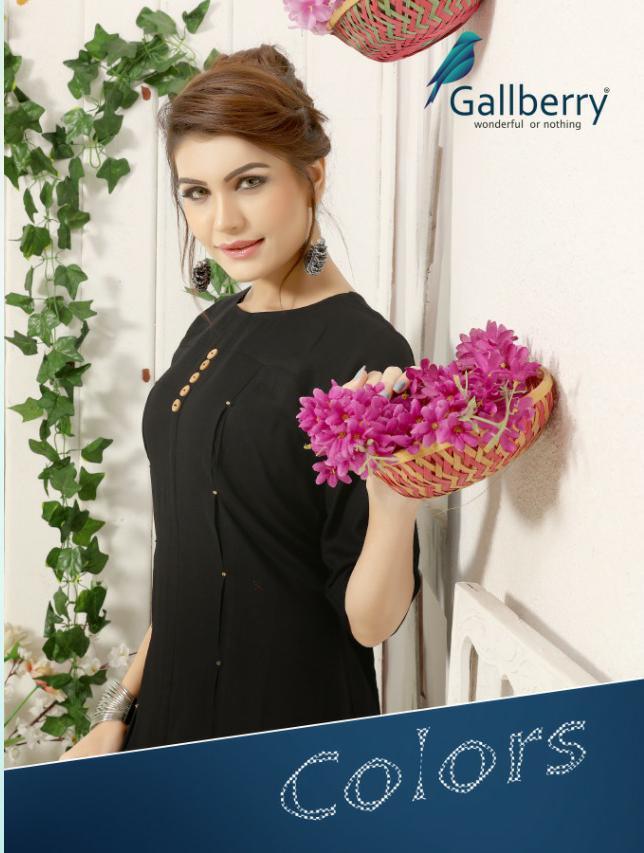Gallberry Colors Designer Western Daily Wear Kurties Wholesale