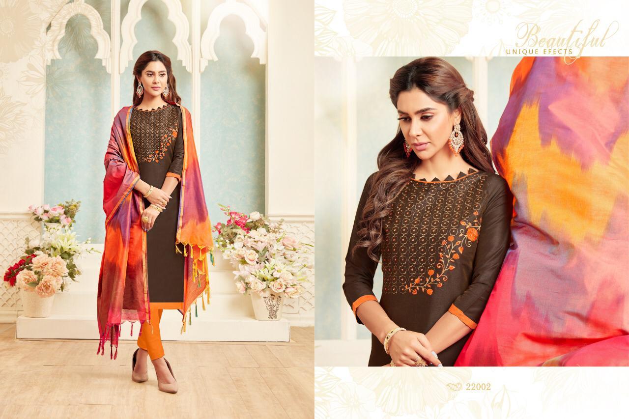 Raghav Royals Colourful 2 Designer Soft Cotton & Fancy Embroidery Suits Wholesale