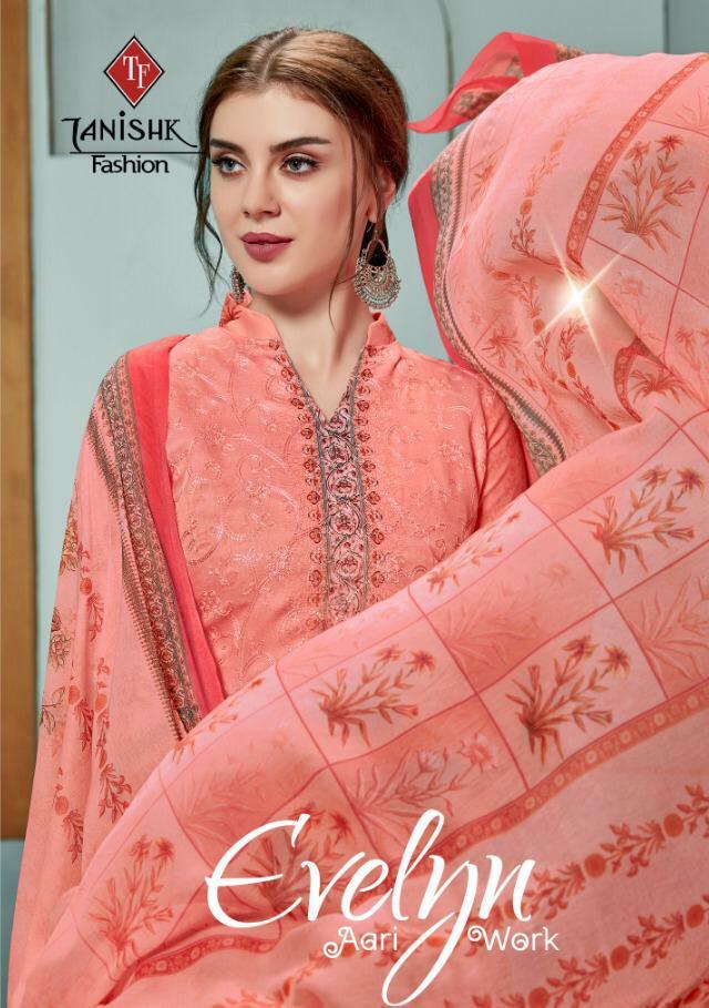 Tanishk Fashion Evelyn Aari Work Designer Aari Work Suits Wholesale Surat