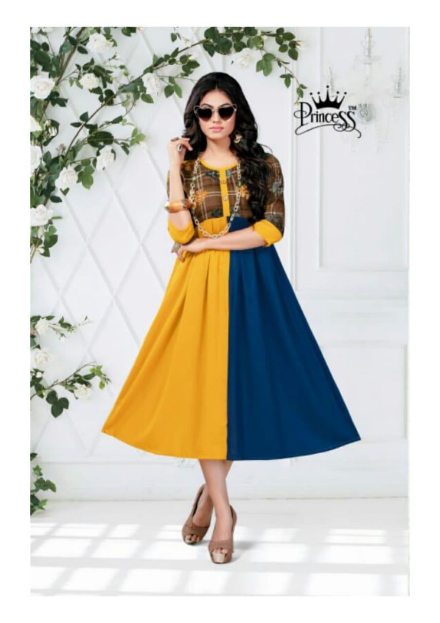 Princess New Heerwa Gown Vol 9 Designer Heavy Rayon Kurtis Wholesale Surat