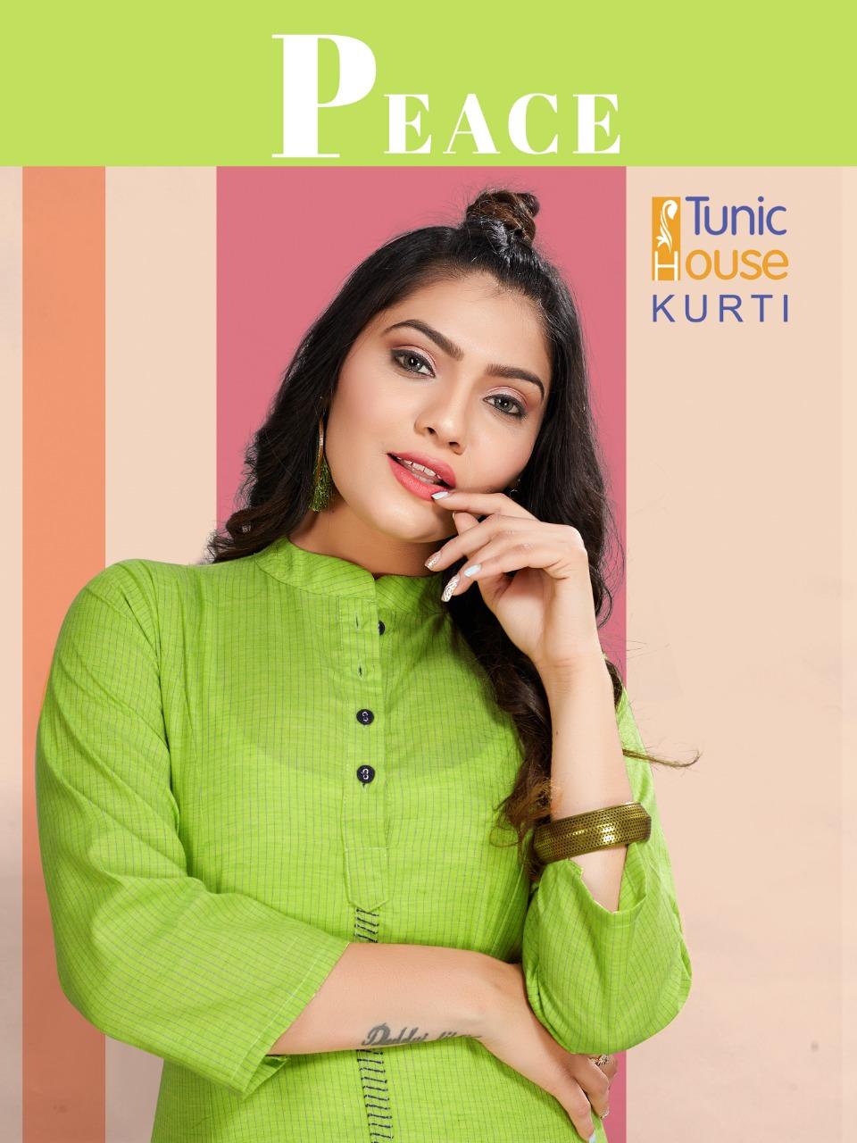Tunic House Peace Designer Office Wear Kurties Best Wholesale Rate