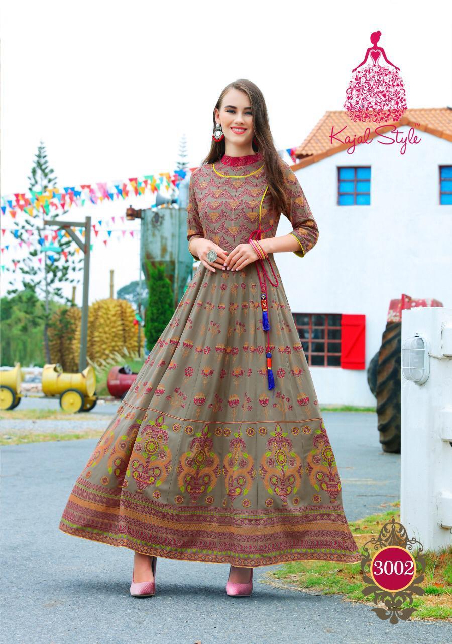 Kajal Style Fashion Colorbar Vol 3 Designer Party Wear Kurties Wholesale
