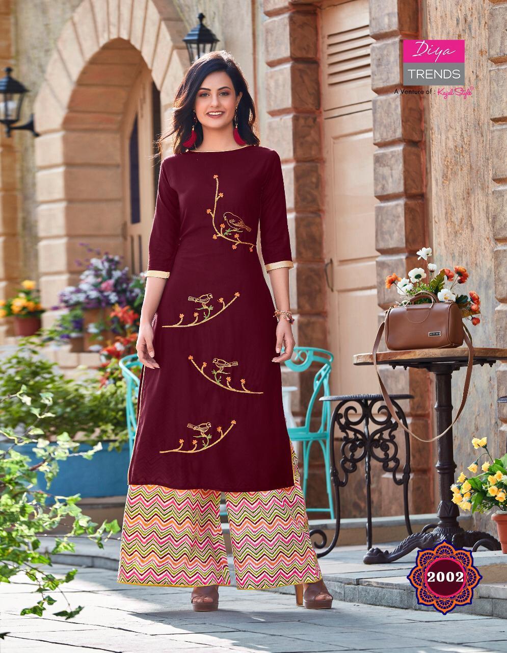 Diya Trends Biba's Vol 2 Designer Kurti With Plazzo Best Wholesale Rate