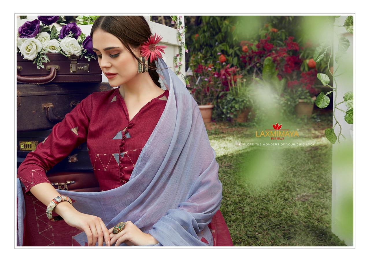 Laxmimaya Silk Mills Itreniya Designer Jam Silk Print Suits Wholesale