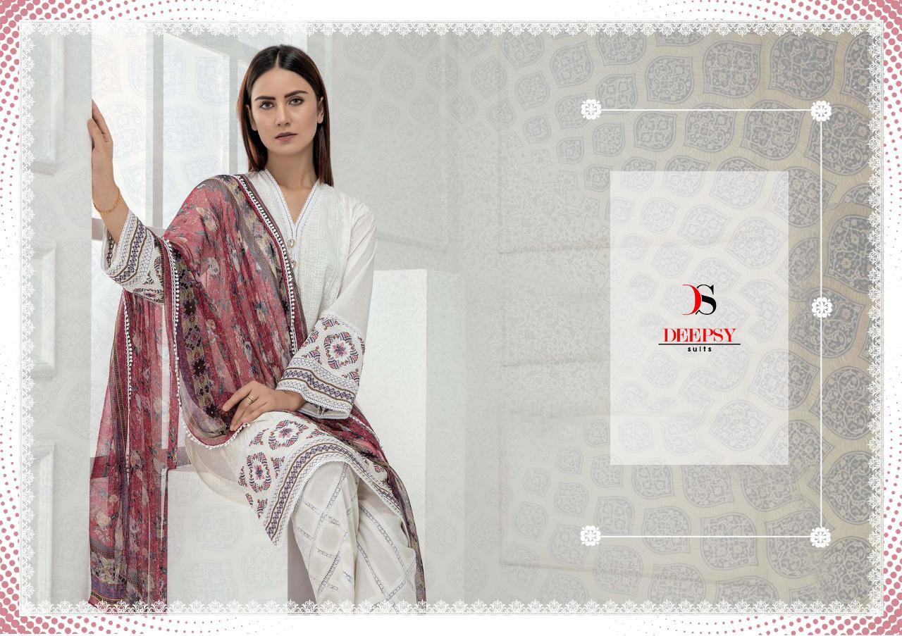 Deepsy Chikankari Designer Heavy Embroidery & Cotton Suits Wholesale